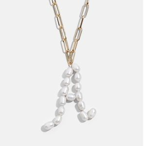 Baublebar Pearl Initial A Pendant Necklace